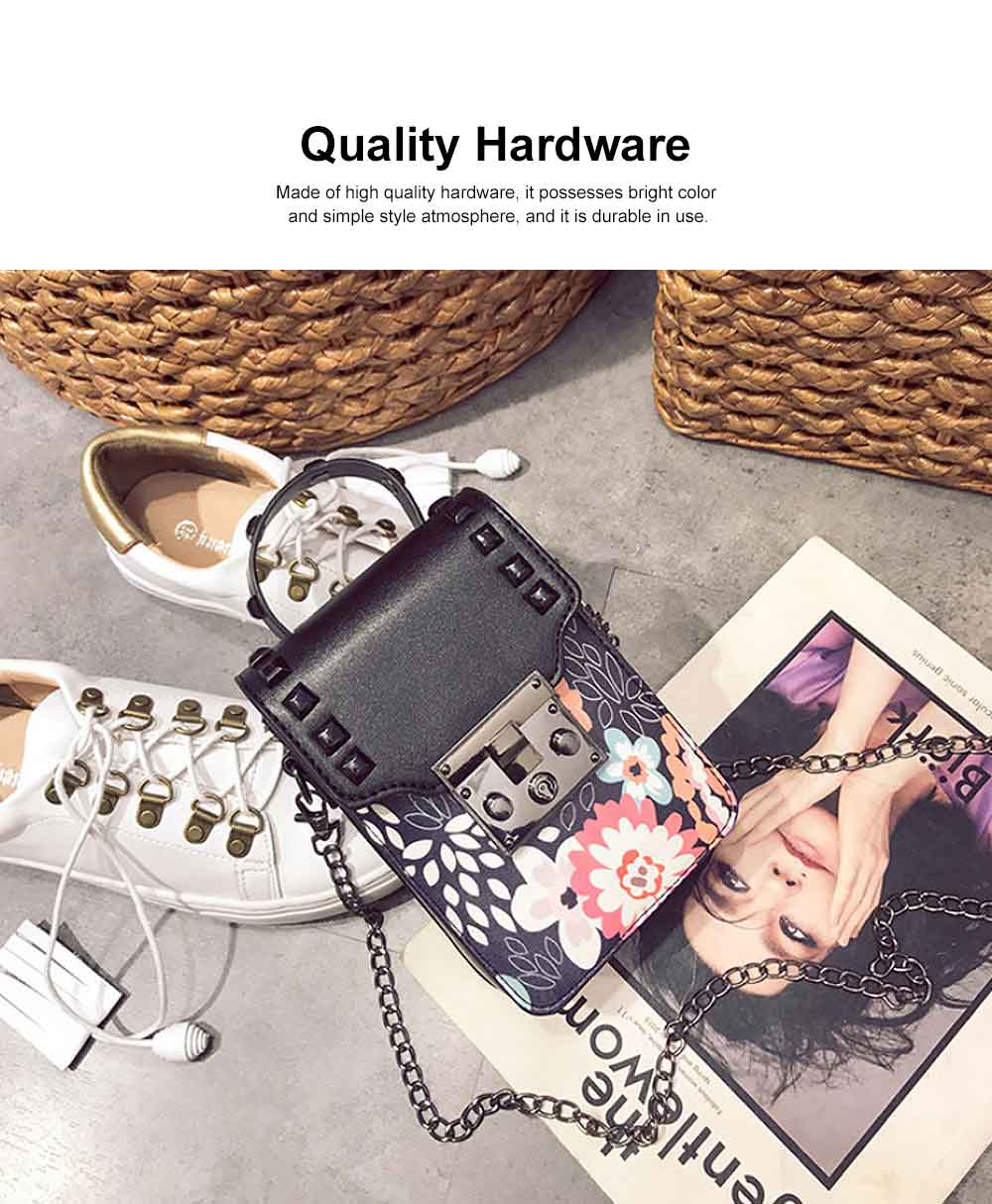 Personality Rivet Mobile Phone Shoulder Bag, All-match Mini Slanting Bag for Dating, Shopping, Daily Fahsion Mini Bag 3
