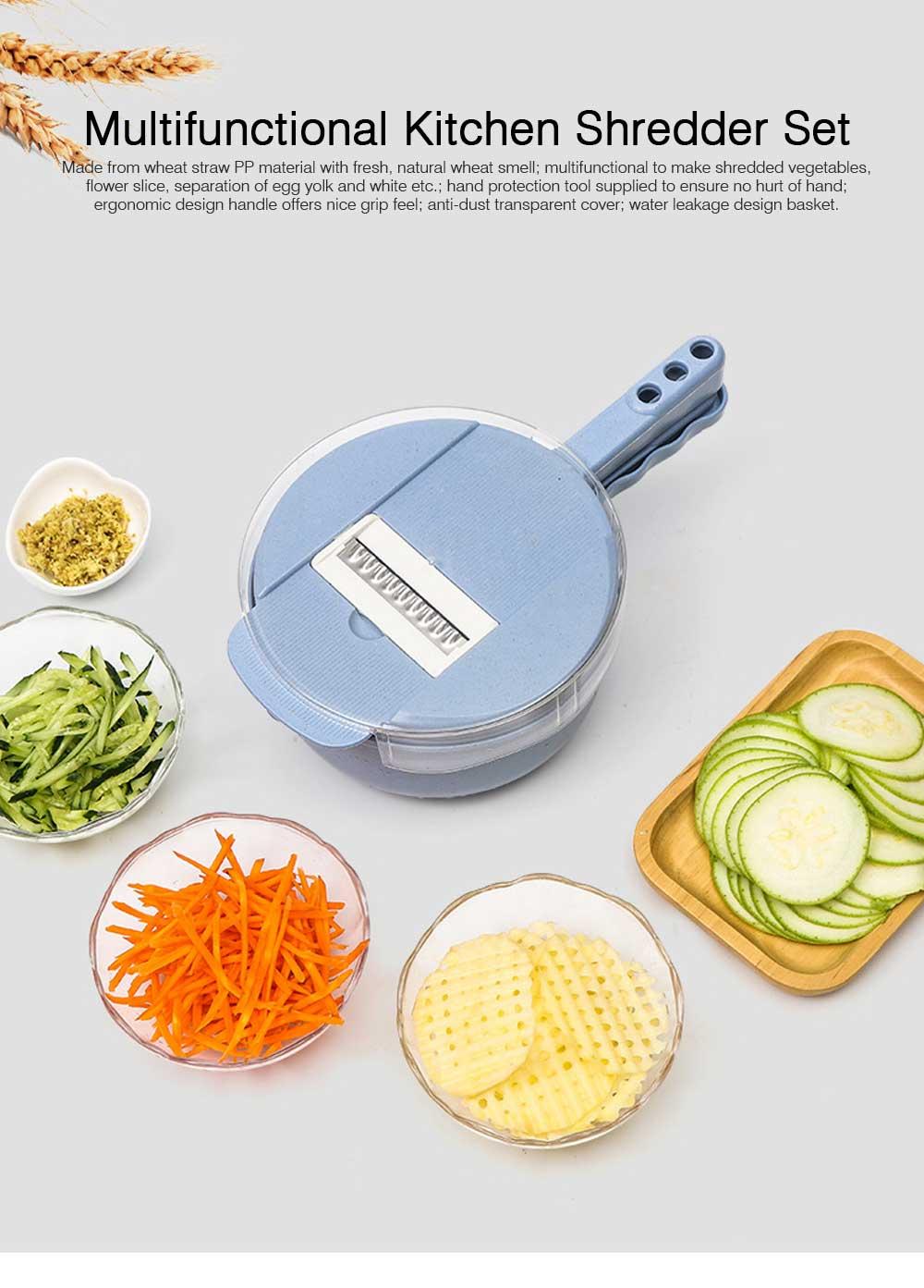 Multifunctional Kitchen Gadget Potato Scraper Set, Potato Tool Wheat-straw-made Multipurposer Kitchen Shredder Slice Scraper 0