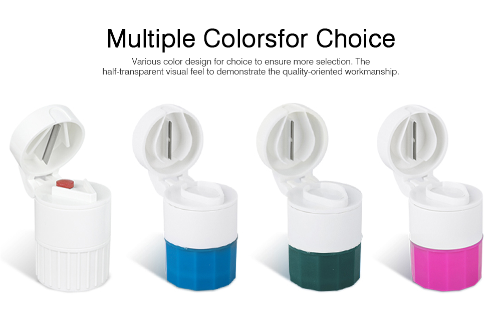 3 in 1 Multifunctional Tablet Cutter Medication Crusher with Small Pill Box Multi-function Pill Crusher Grinder Splitter 4