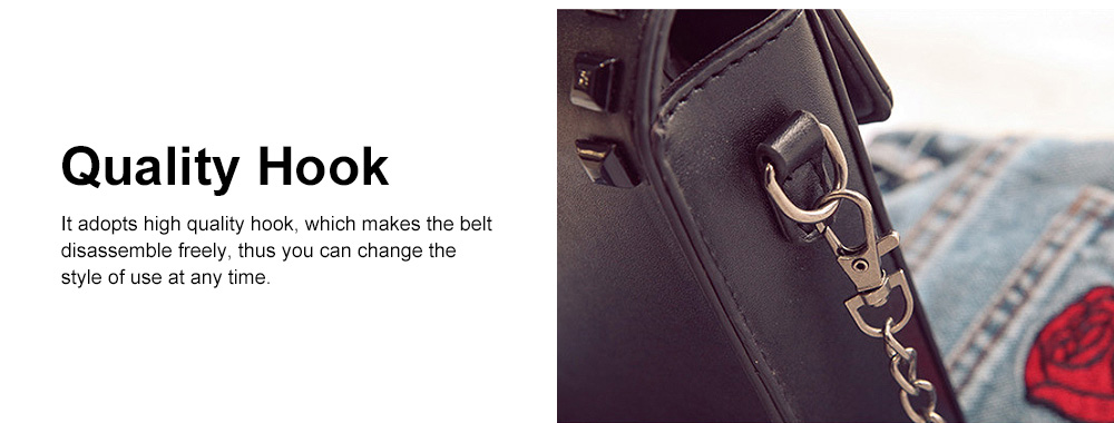 Personality Rivet Mobile Phone Shoulder Bag, All-match Mini Slanting Bag for Dating, Shopping, Daily Fahsion Mini Bag 4