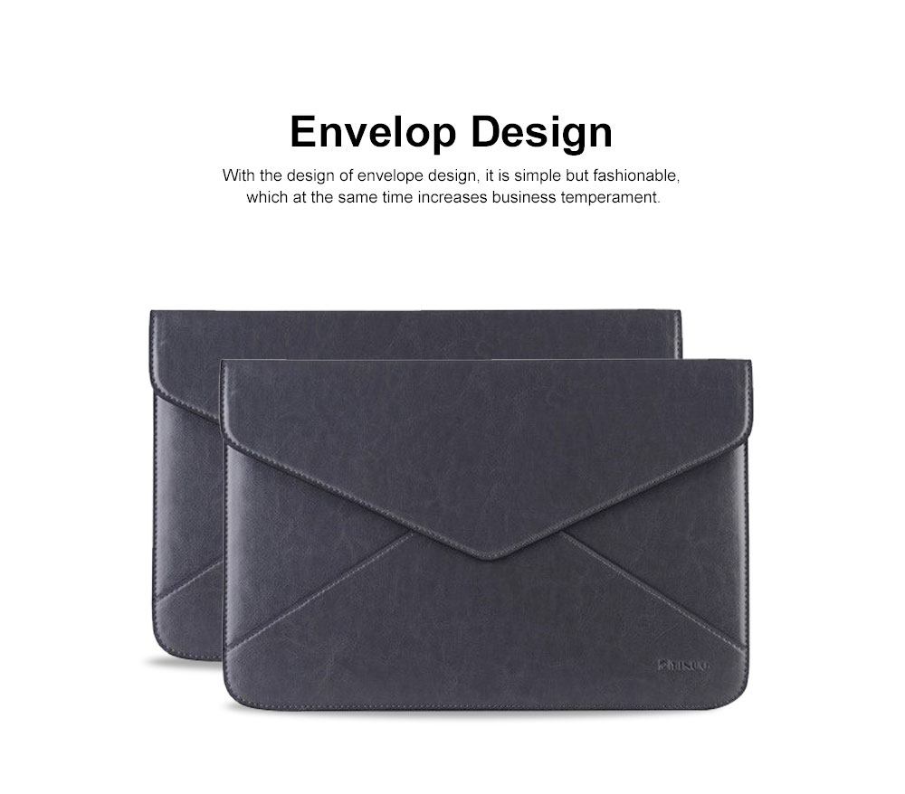 Stylish Lightweight Envelope-designed Leather Cover for Apple Macbook Pro Air, PU Leather Slim Laptop Bag 1