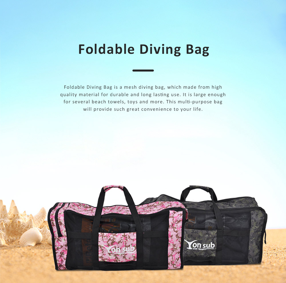 Quality Foldable Diving Bag, High Capacity Multi-purpose Mesh Pool Handbag for Travelling, Sundries, Swimming 0