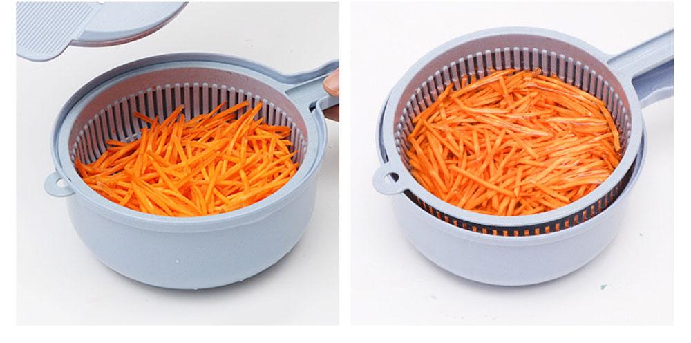 Multifunctional Kitchen Gadget Potato Scraper Set, Potato Tool Wheat-straw-made Multipurposer Kitchen Shredder Slice Scraper 7