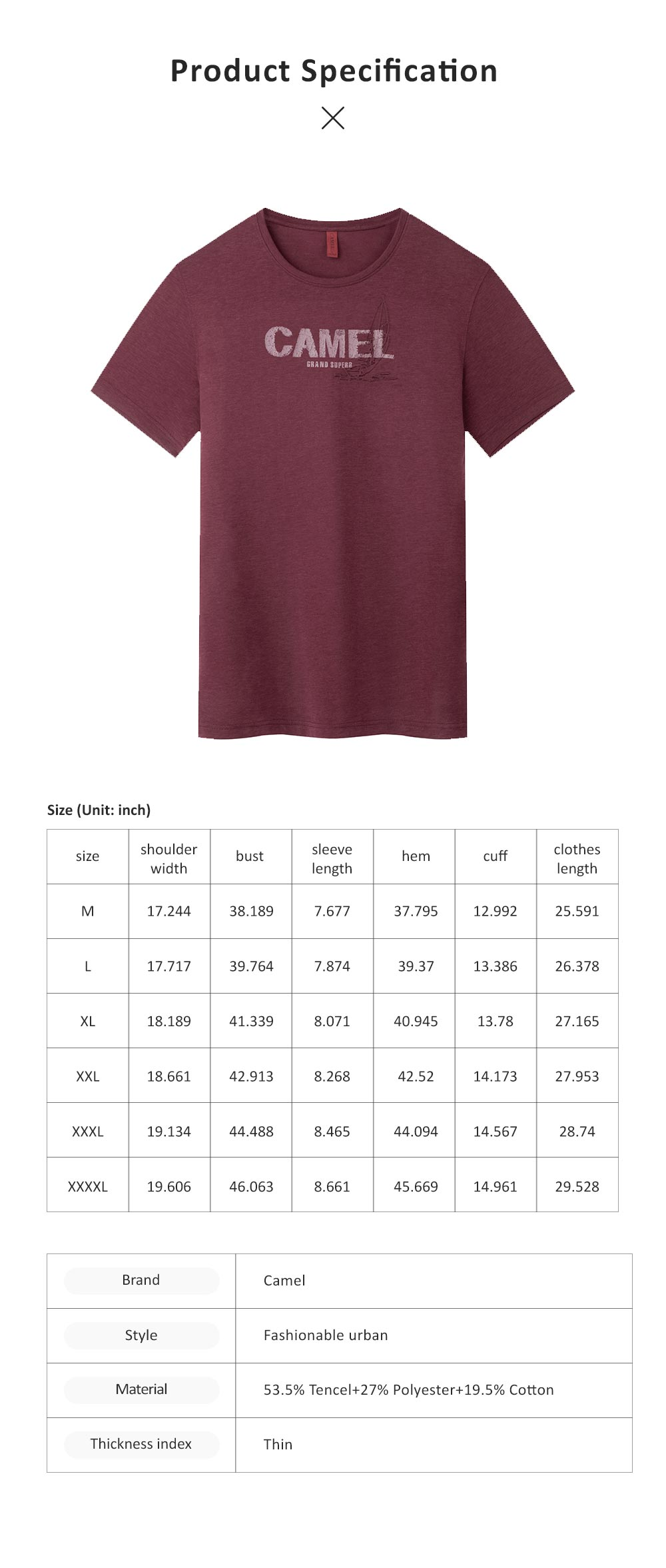 2019 Summer Thin T-shirt for Men, Round Neck Printing Style Breathable Short Sleeve Shirt, Quick Dry Sports Tees 6