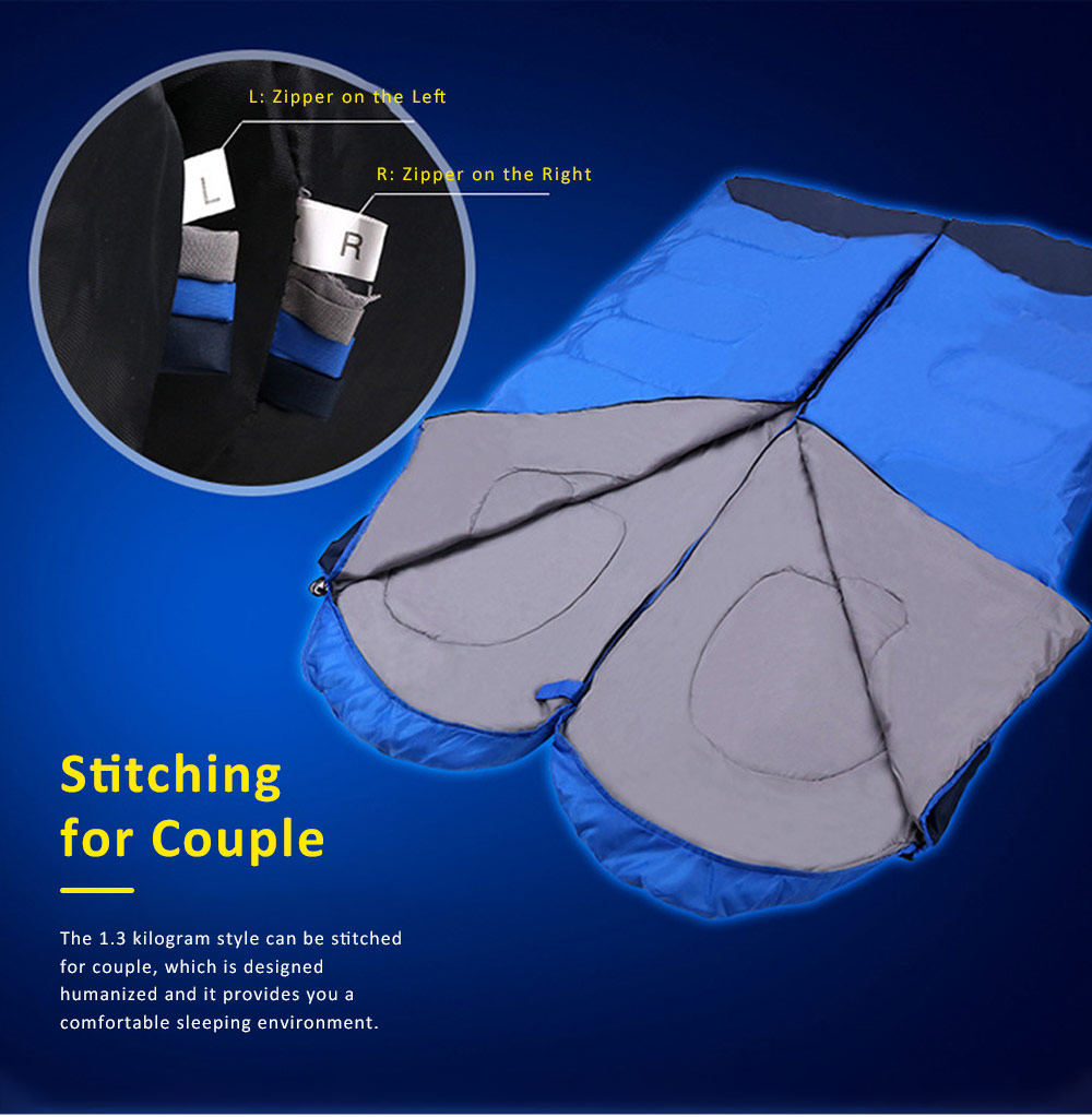 Portable Sleeping Sack Camping Equipment, Thicken Thermal High Quality Outdoor Bedding, One Kilogram Sleeping Bag for Adults 2