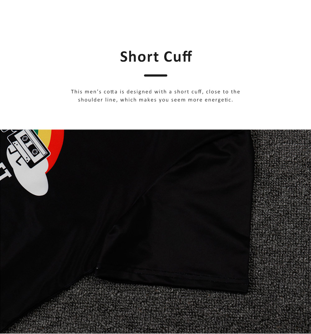 2019 Summer Casual T-shirt for Men, Fashionable European Collarless Style Large Size Short Sleeve Tees 5