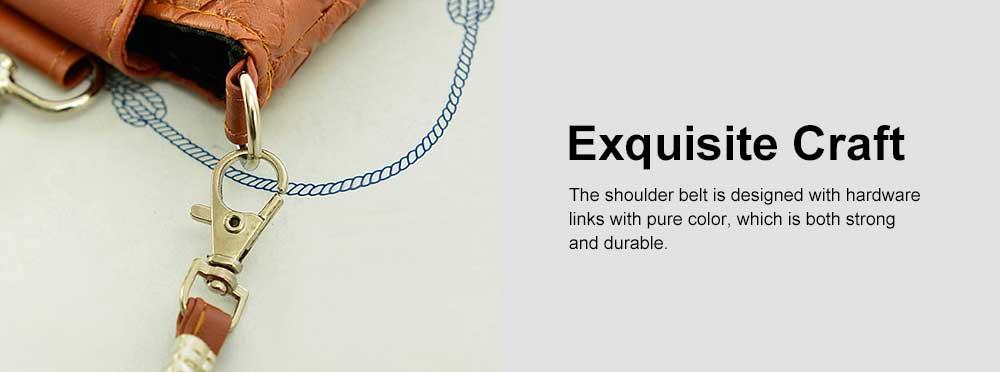 Mini Diagonal Mobile Phone Shoulder Bag, Woven PU Leather Small Slanting Bag for Phone, Cash, Card, Coins, Mini Casual Shoulder Bag 5