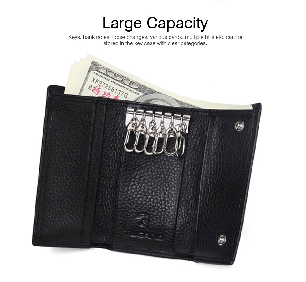 TUCANO Leather Purse with Key Case for Women, New Simple Key Case Loose Change Card Purse Wallet 2019 5