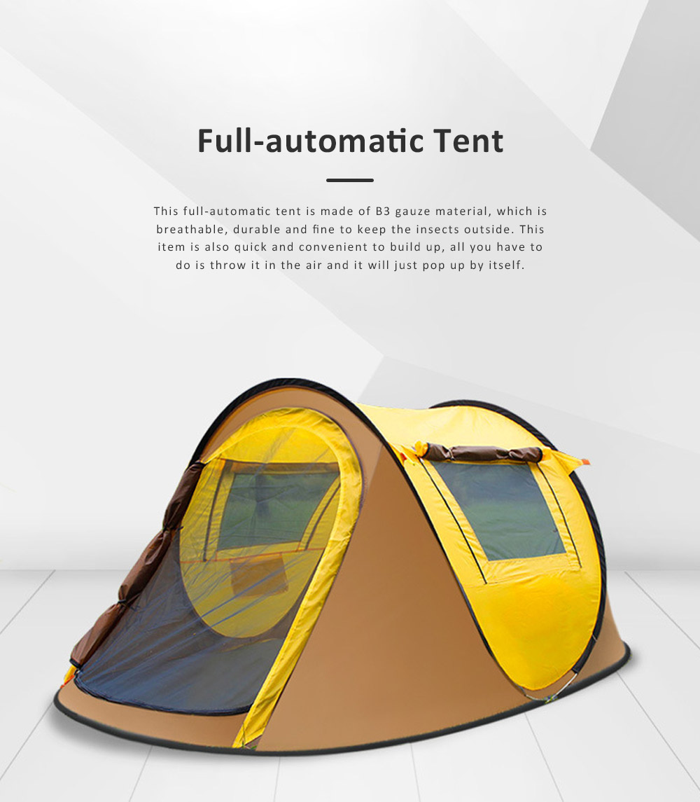 Full-automatic Quick Opening Tent with Two Doors Two Windows, Superior Sleeping Tent for Hiking Outdoor Activities, Two People Shelters 0