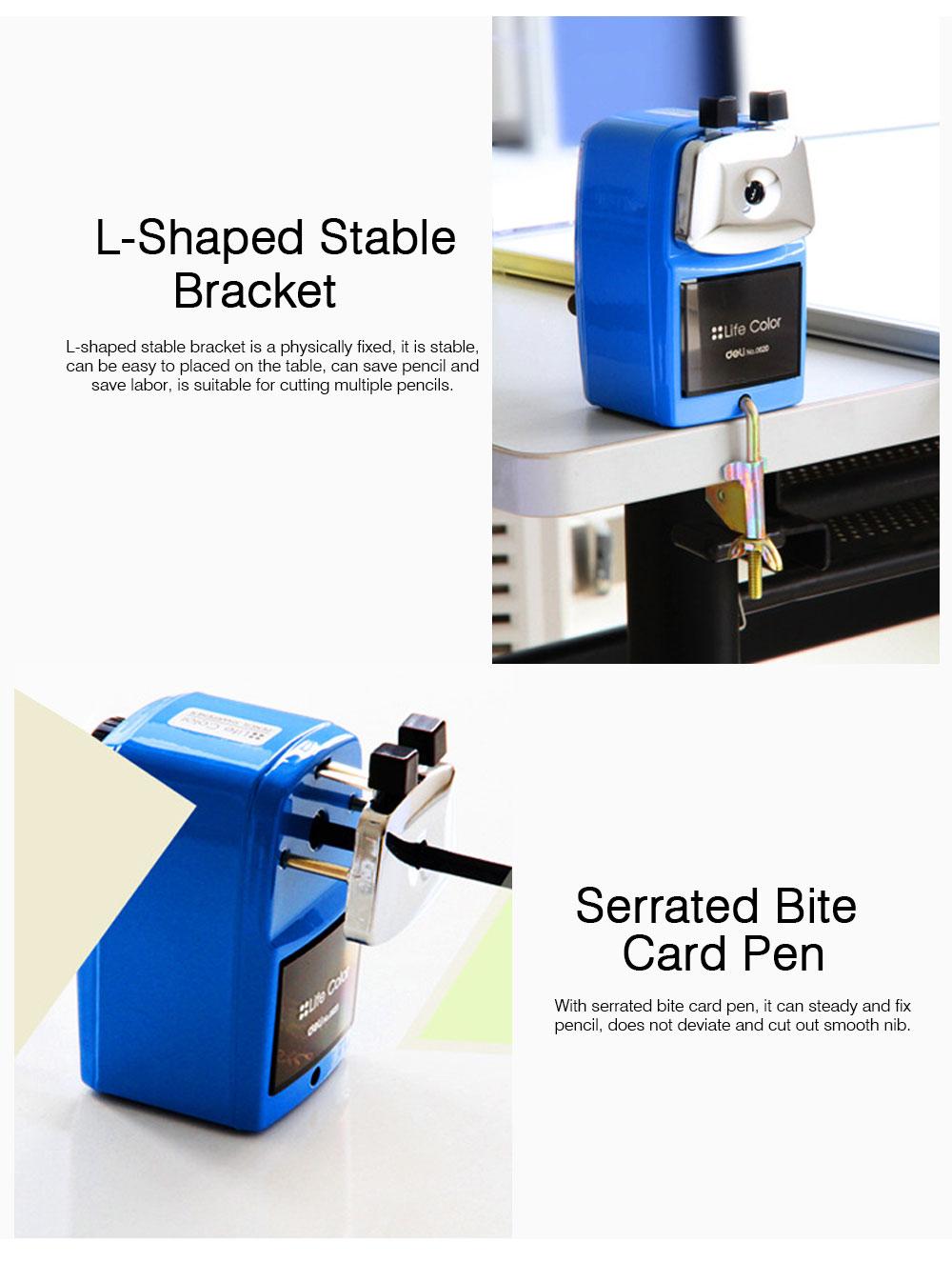 Hand Pencil Sharpener for kids, Metal Desk Office School Stationery Manual Pencil Sharpener 4