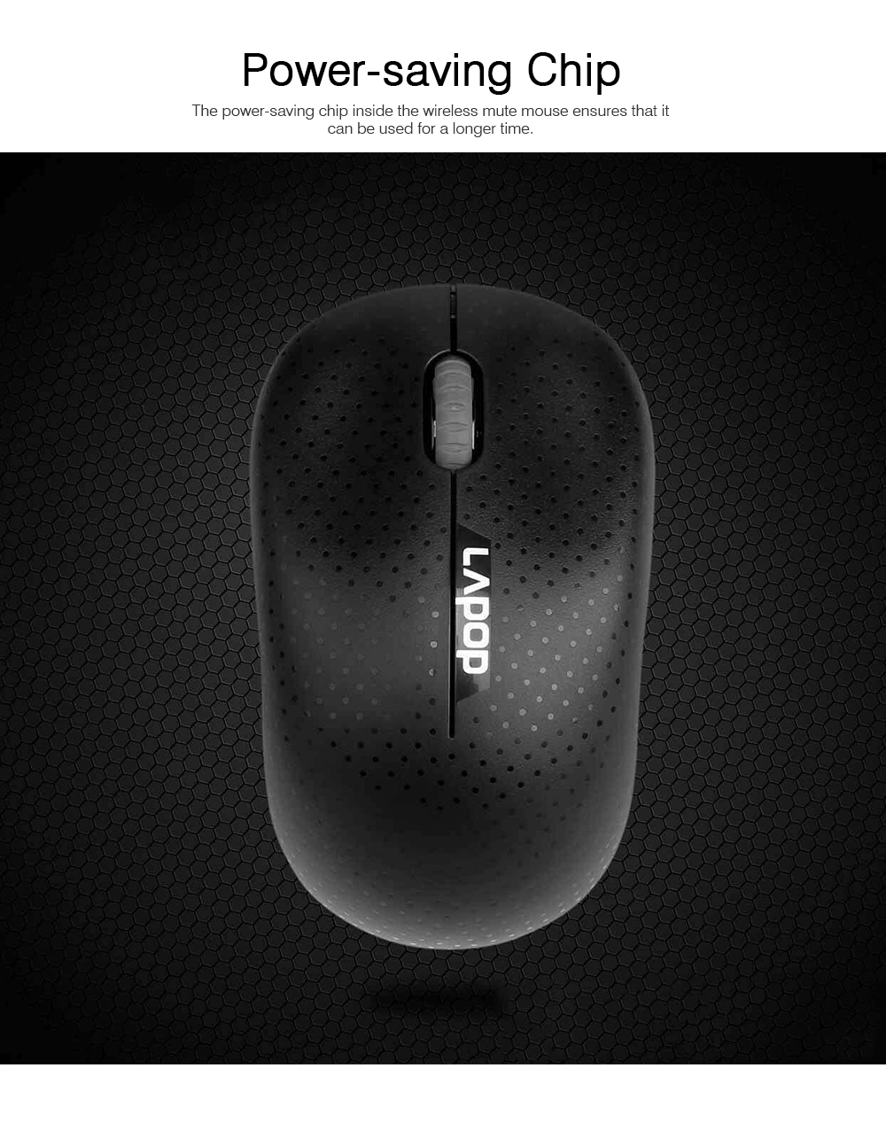 Wireless Mute Mouse for Office Use, Fashionable Wireless Mouse for Laptop, Wireless Game Mouse Black 5