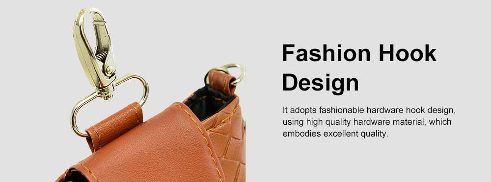 Mini Diagonal Mobile Phone Shoulder Bag, Woven PU Leather Small Slanting Bag for Phone, Cash, Card, Coins, Mini Casual Shoulder Bag 3