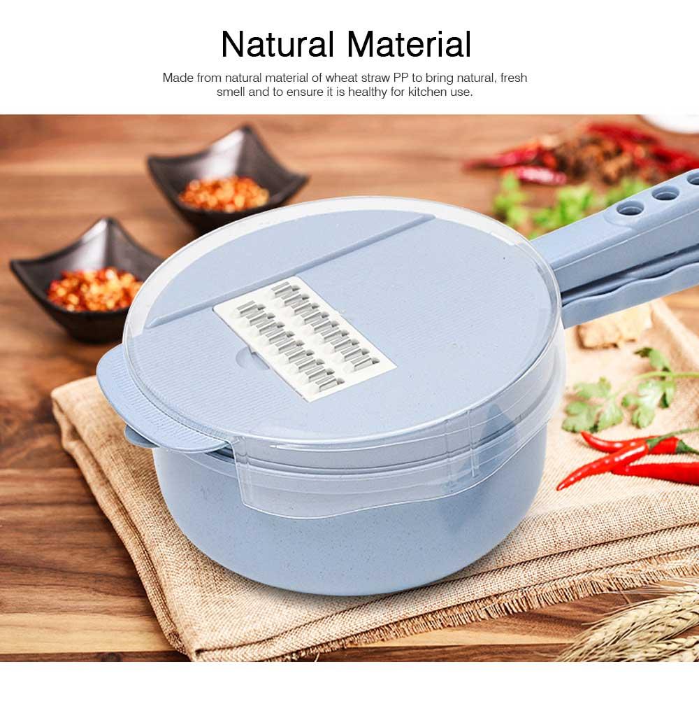 Multifunctional Kitchen Gadget Potato Scraper Set, Potato Tool Wheat-straw-made Multipurposer Kitchen Shredder Slice Scraper 1
