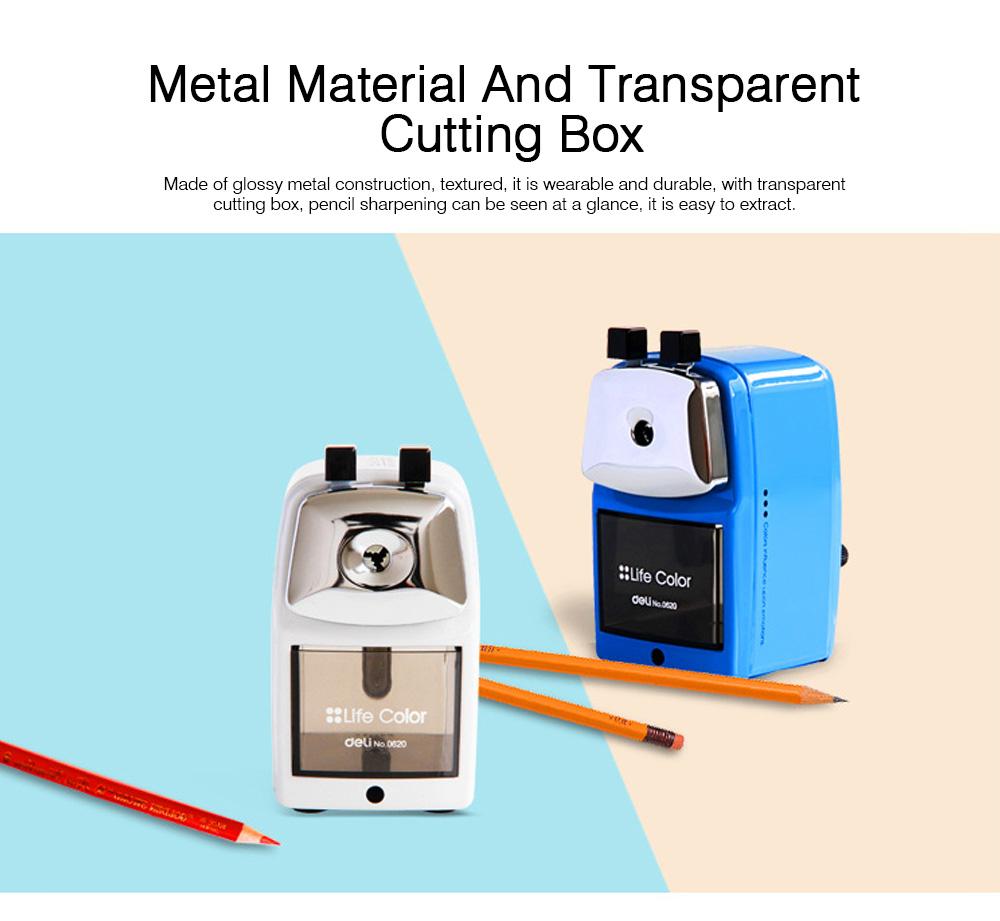 Hand Pencil Sharpener for kids, Metal Desk Office School Stationery Manual Pencil Sharpener 2