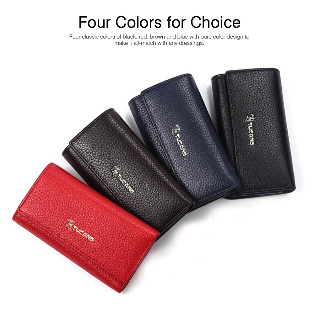 TUCANO Leather Purse with Key Case for Women, New Simple Key Case Loose Change Card Purse Wallet 2019 2