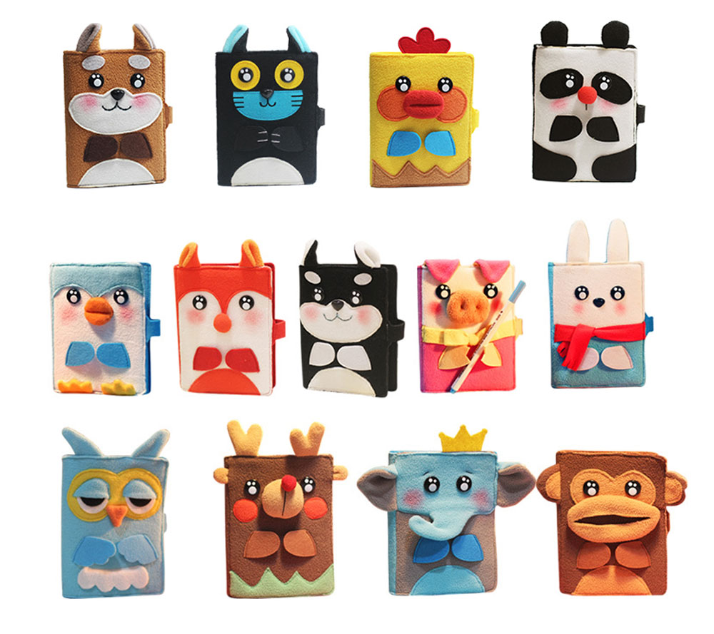 2019 Pet Animal Cover Notepads for Notebooks, Stationery Creative Korean Cartoon Notbook Cover with Pen Holder 11