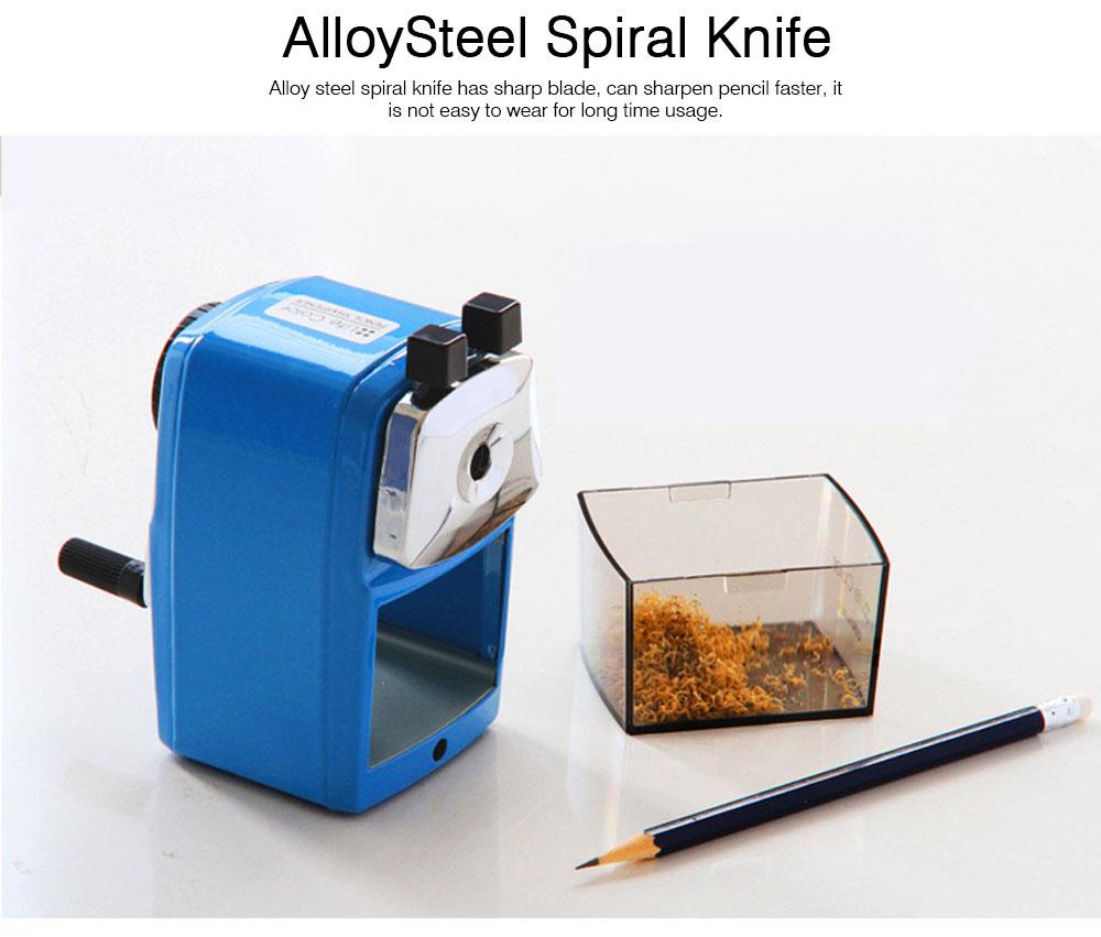 Hand Pencil Sharpener for kids, Metal Desk Office School Stationery Manual Pencil Sharpener 1