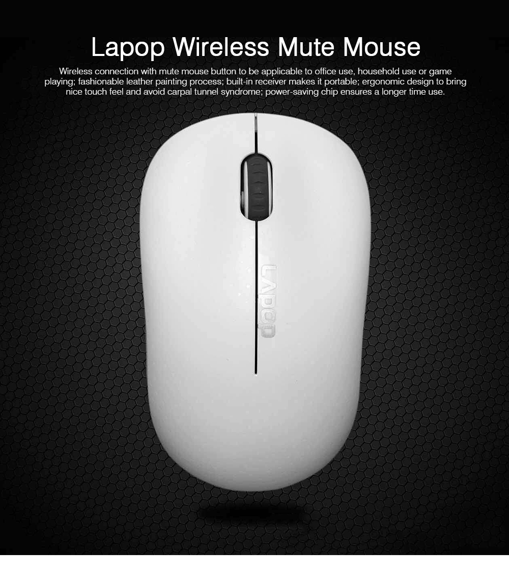 Wireless Mute Mouse for Office Use, Fashionable Wireless Mouse for Laptop, Wireless Game Mouse Black 0