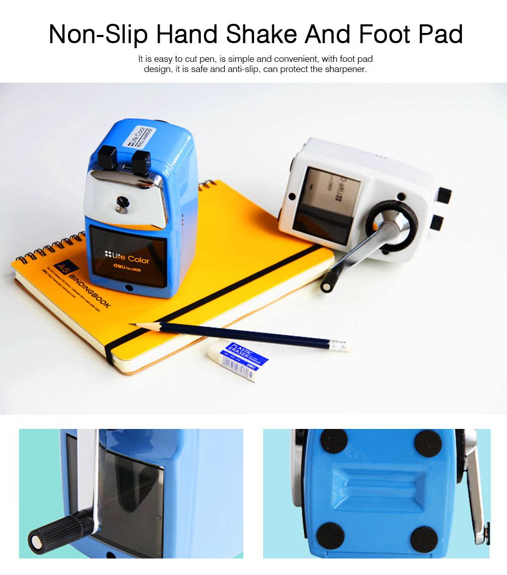 Hand Pencil Sharpener for kids, Metal Desk Office School Stationery Manual Pencil Sharpener 3