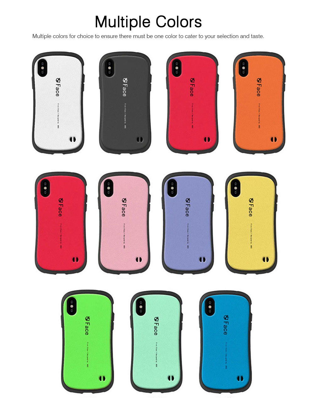 Original iface Mall Phone Case for iPhone X, Silicone Hard Strong Protective Phone Shell, Back Cover for iPhone X, iPhone 10 Slim Fit Shockproof 5