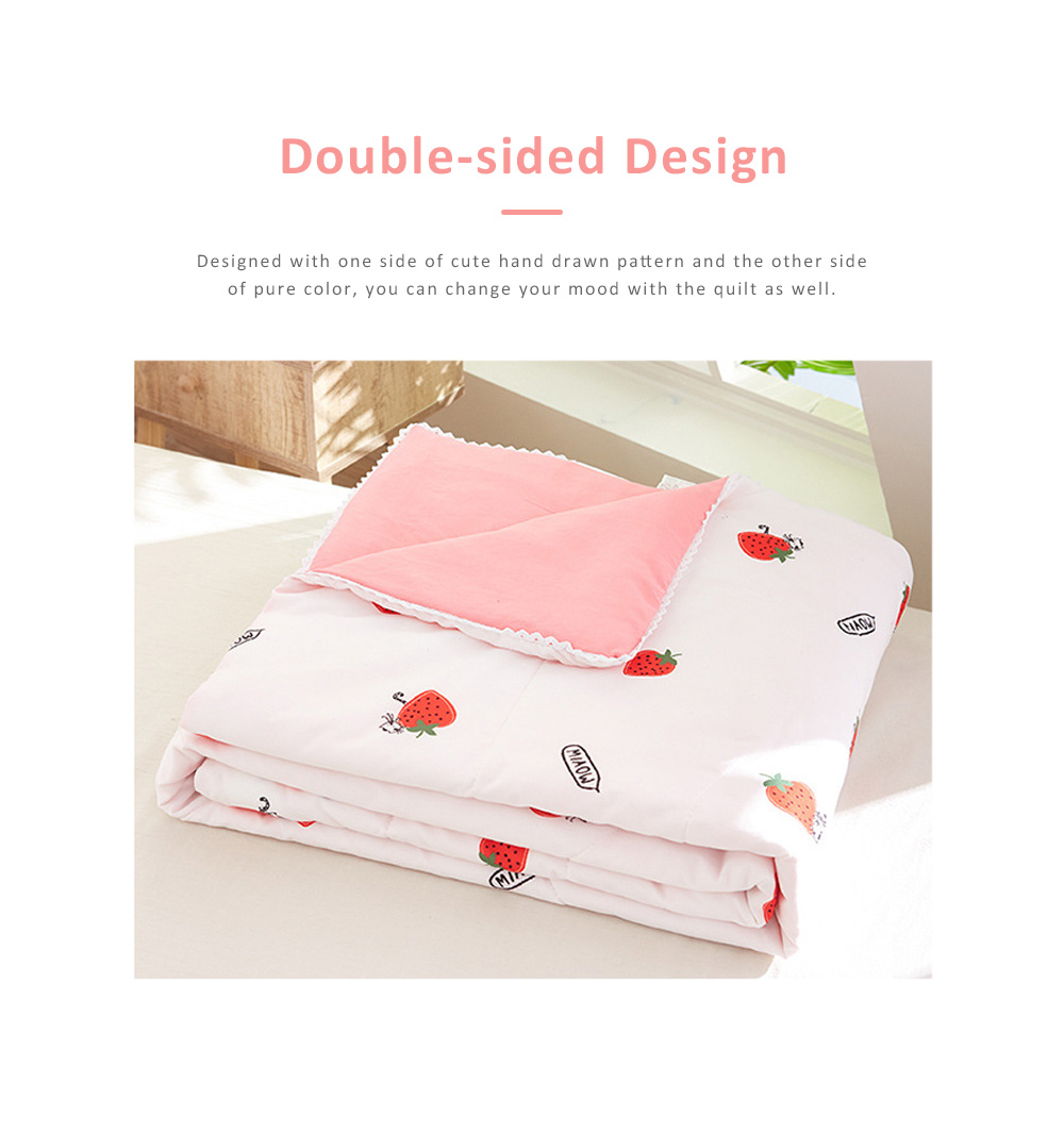 Eco-friendly Printing Thin Quilt for Summer, Skin-friendly Polyester Material Cool Blanket 3