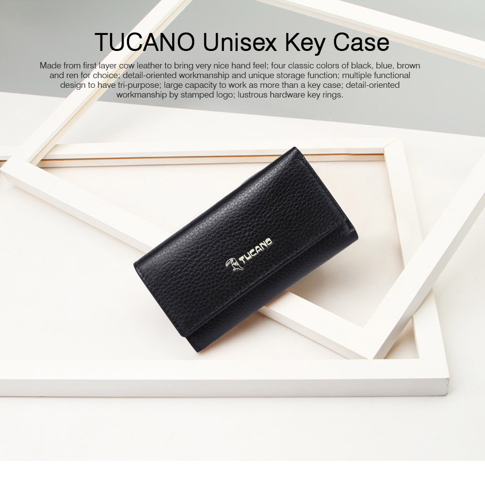 TUCANO Leather Purse with Key Case for Women, New Simple Key Case Loose Change Card Purse Wallet 2019 0