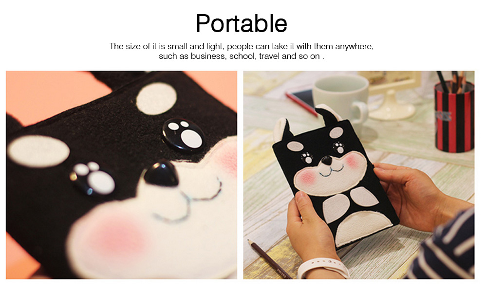2019 Pet Animal Cover Notepads for Notebooks, Stationery Creative Korean Cartoon Notbook Cover with Pen Holder 4