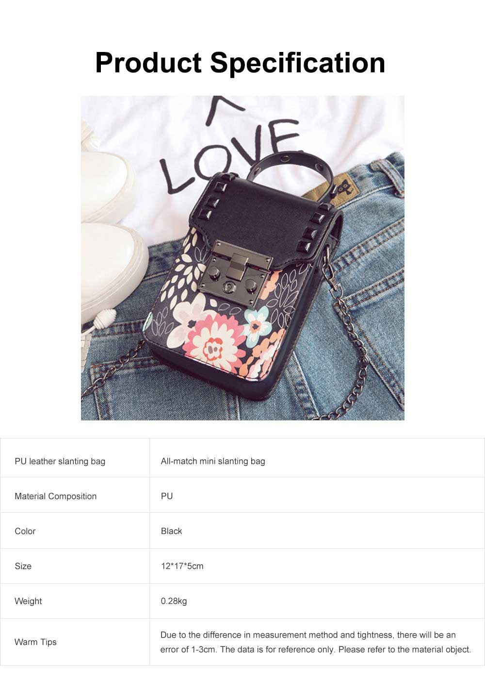 Personality Rivet Mobile Phone Shoulder Bag, All-match Mini Slanting Bag for Dating, Shopping, Daily Fahsion Mini Bag 6
