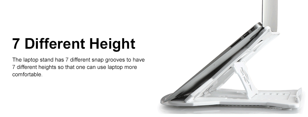 Height Adjustable Foldable Laptop Stand for All Notebook Computer, Portable Notebook Desktop Erector, Base Laptop Stand 6