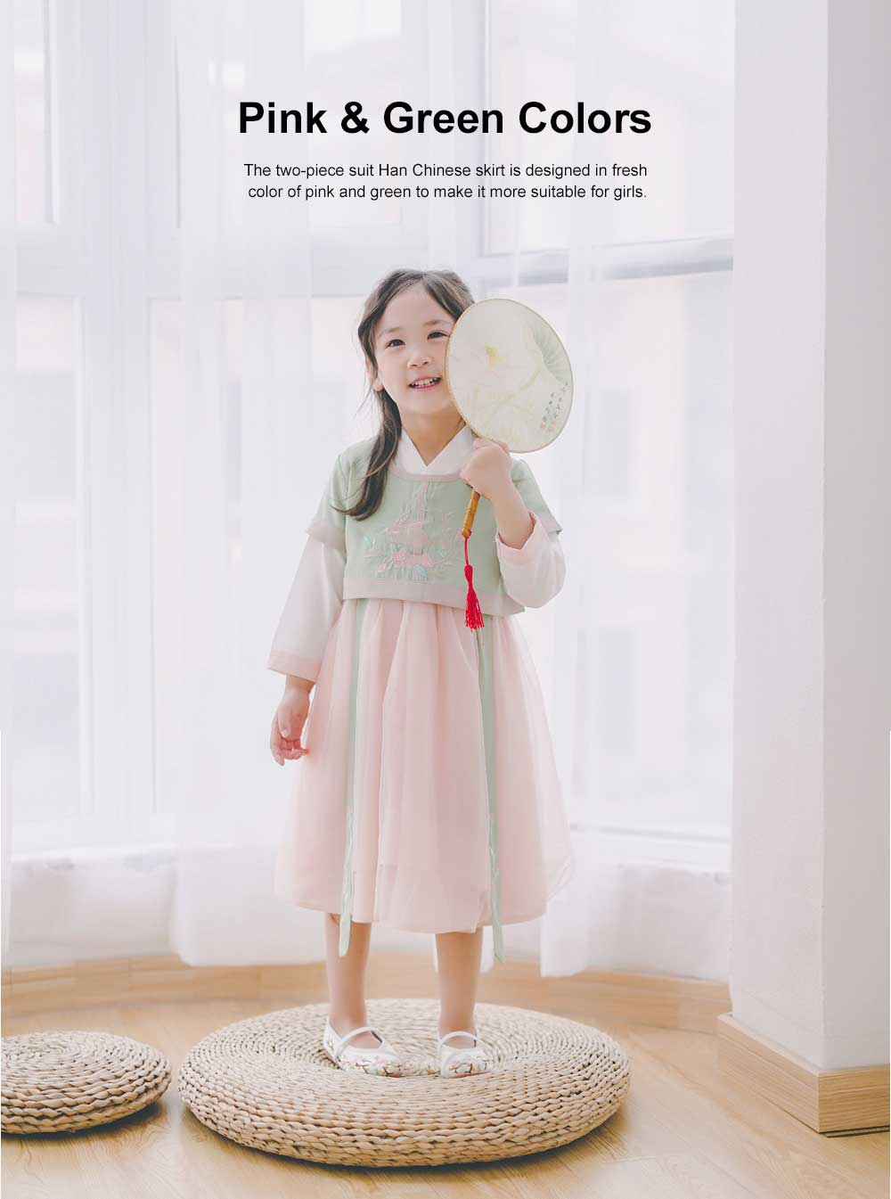 Chinese Style Embroidered Long Skirts Special Two-piece Suit Han Chinese Clothing for Girls 1
