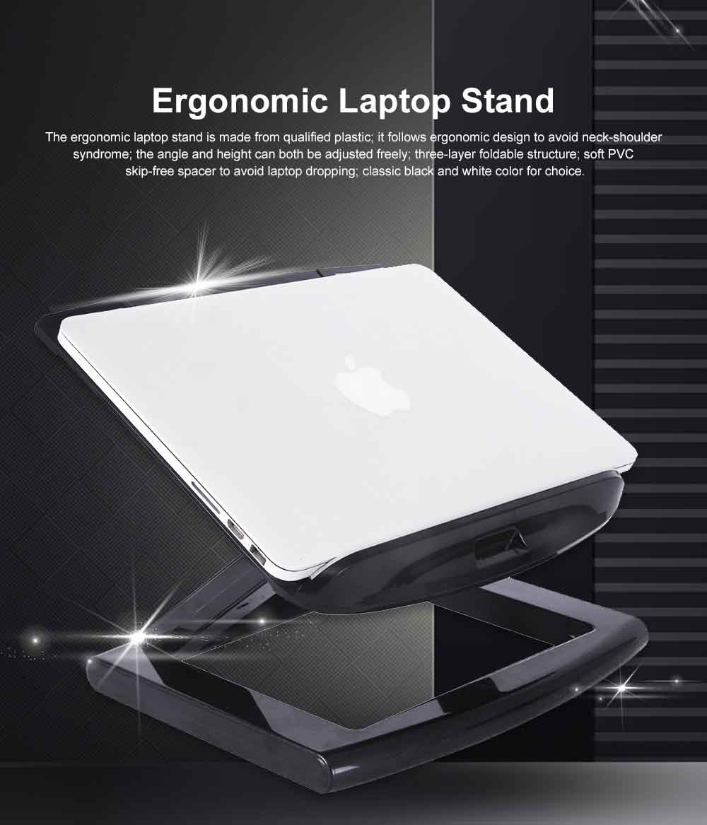 Neck-protective Portable Stand for Notebook Computer Projector, Foldable Heat Dissipated Lifting Support, Ergonomic Laptop Stand 0