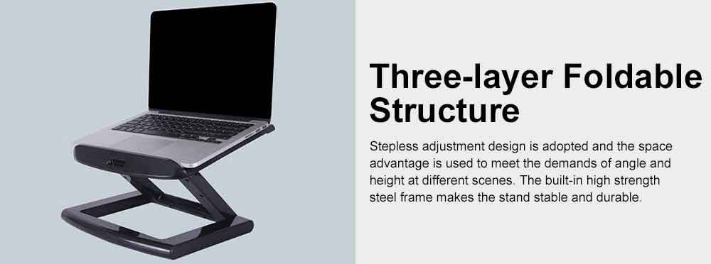 Neck-protective Portable Stand for Notebook Computer Projector, Foldable Heat Dissipated Lifting Support, Ergonomic Laptop Stand 5