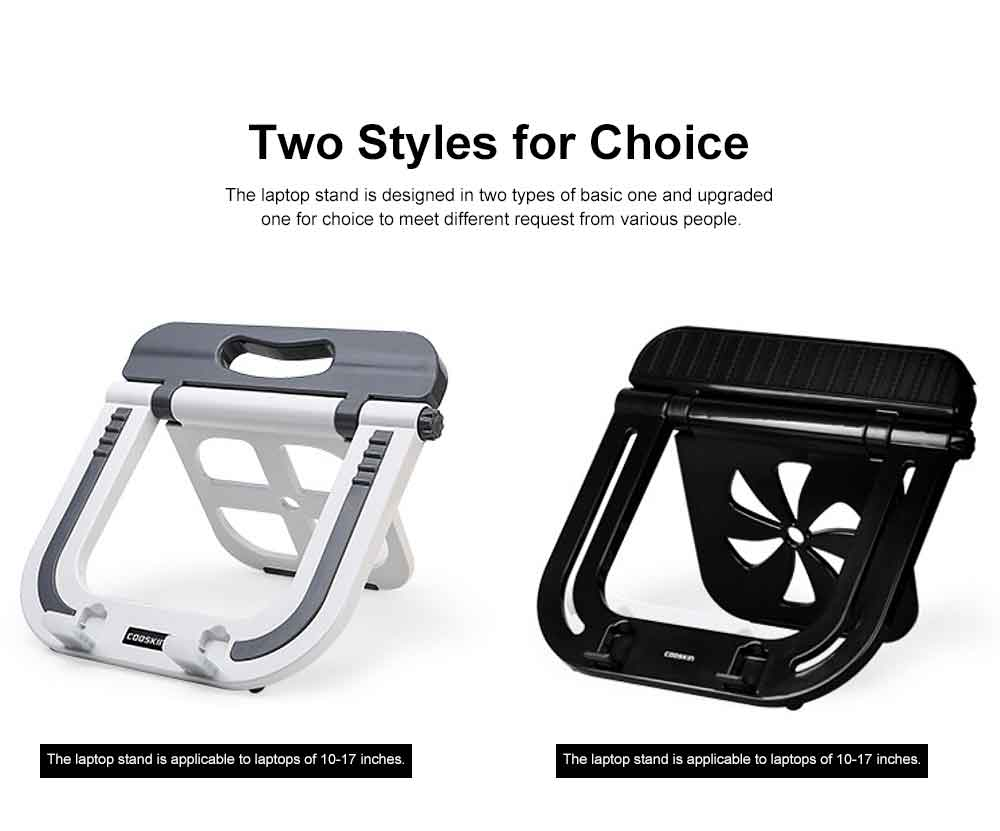 Adjustable Height Laptop Stand, Desk Neck Protective Notebook Computer Support for Lenovo Apple Notebooks, Heat Dissipated Base Computer Accessories 4