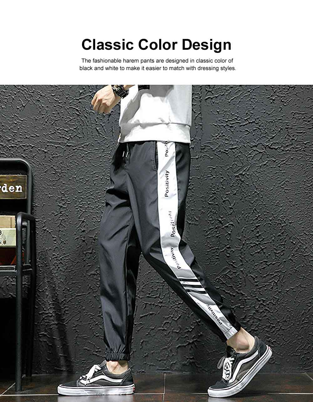2019 Casual Harem Pants for Male Spring Summer, Mid-rised Slim-fit Pants for Man, Sports Slacks Men's Trousers 2