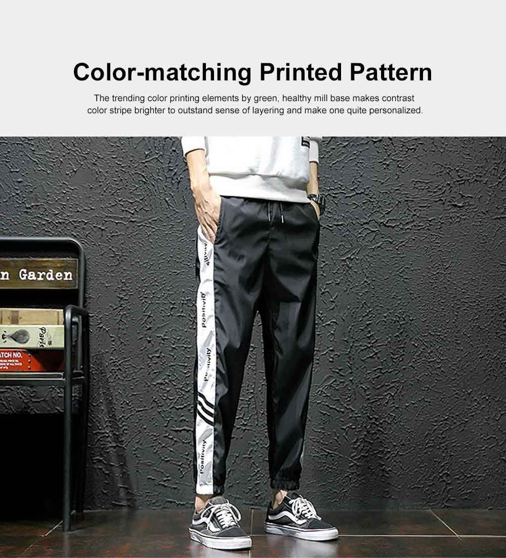 2019 Casual Harem Pants for Male Spring Summer, Mid-rised Slim-fit Pants for Man, Sports Slacks Men's Trousers 3