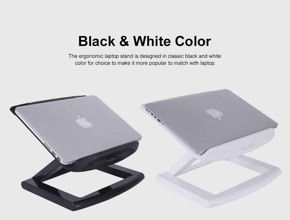 Neck-protective Portable Stand for Notebook Computer Projector, Foldable Heat Dissipated Lifting Support, Ergonomic Laptop Stand 1