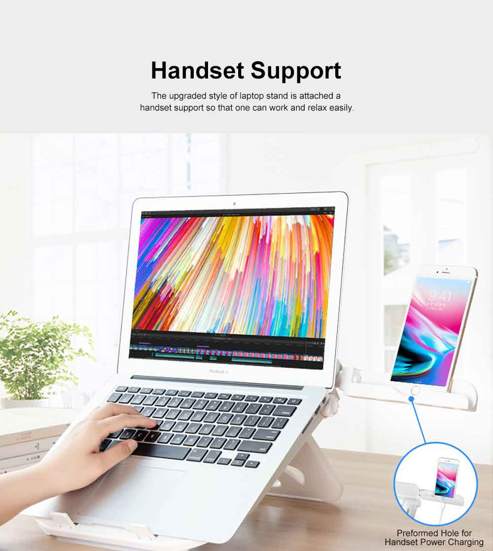 Adjustable Height Laptop Stand, Desk Neck Protective Notebook Computer Support for Lenovo Apple Notebooks, Heat Dissipated Base Computer Accessories 8