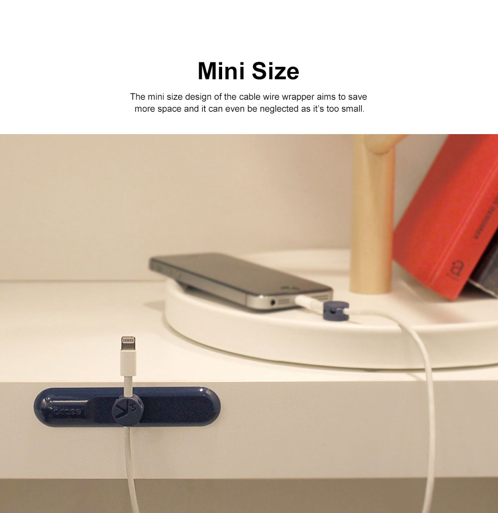 Magnetic Cable Wire Wrapper for Data Cable, USB Cable Office Use Cable Tidy Tool, Three Size in One Bobbin Winder 1