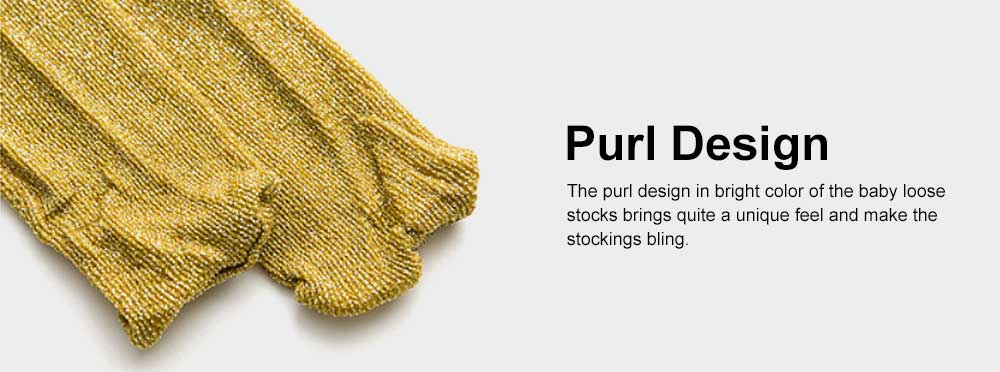 Pure Cotton Long Stockings for Kids Wear in Spring Summer, Purl Loose Socks for Babies, Thin Knee-socks Children's Stockings 5