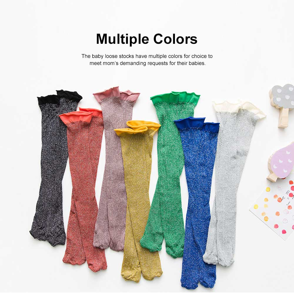 Pure Cotton Long Stockings for Kids Wear in Spring Summer, Purl Loose Socks for Babies, Thin Knee-socks Children's Stockings 3