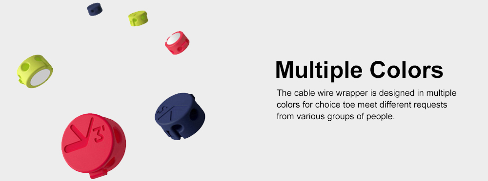 Magnetic Cable Wire Wrapper for Data Cable, USB Cable Office Use Cable Tidy Tool, Three Size in One Bobbin Winder 5