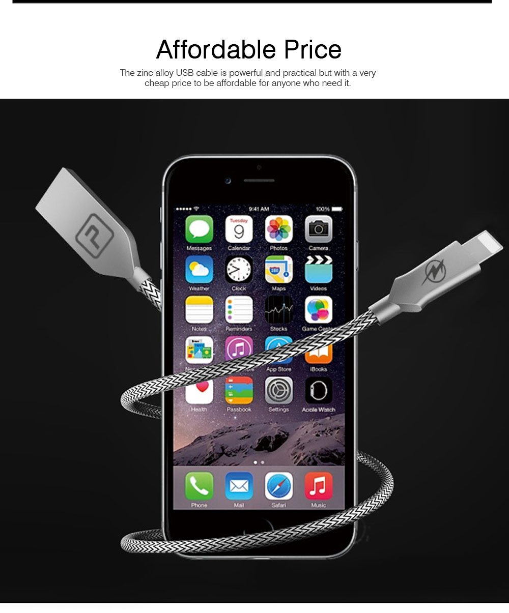 1m Durable Alloy Nylon-woven USB Cable for iPhone Android Phones, Type-C USB Date Cable 5