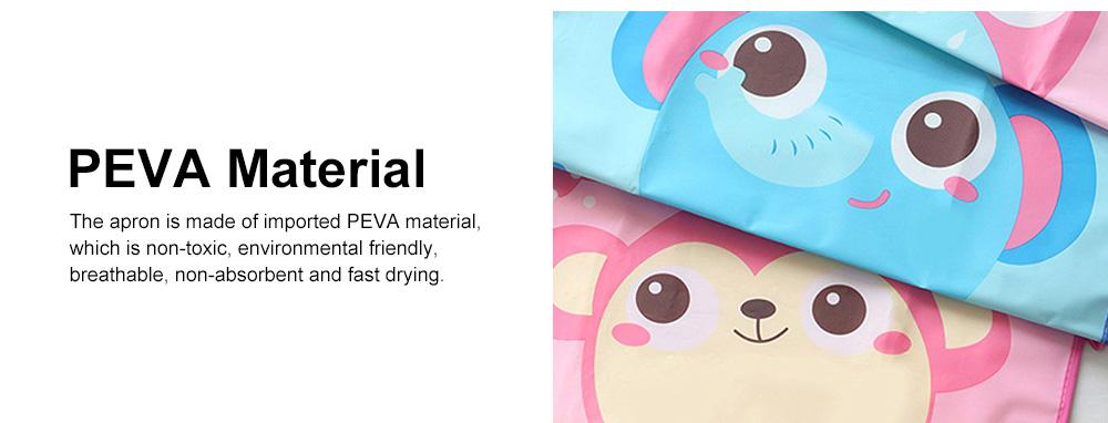 Children Cartoon Apron, PEVA Creative Lovely Pattern Cute Apron, Waterproof Painting Anti-fouling Sleeveless Bust Apron 2