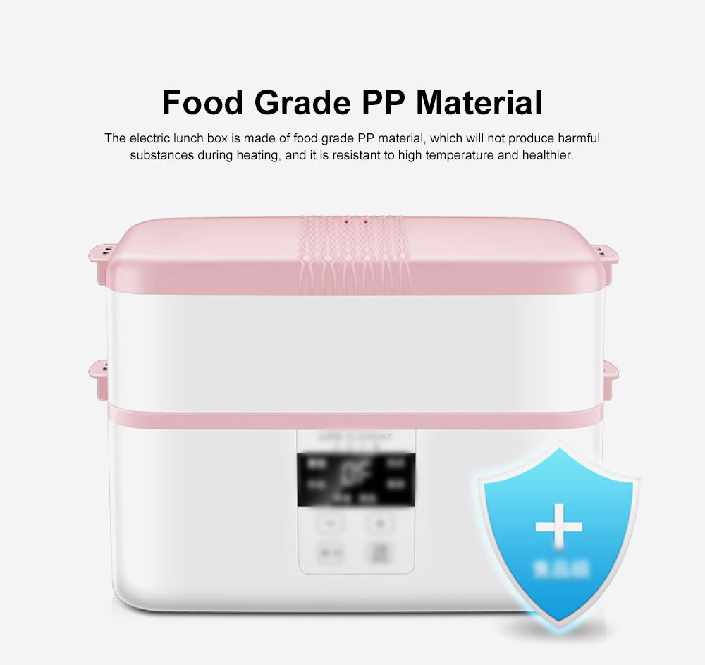 Electric Lunch Box Ceramic Intelligent Reservation Timing Lunch Box, Large Capacity Double-layer Heat Preservation Box 5