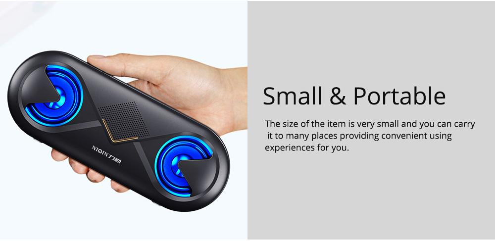 Household Two-eye Design Mini Portable Wireless Bluetooth Speaker, Outdoors Mobile Phone Mega Bass Loudspeaker Sound Box 6