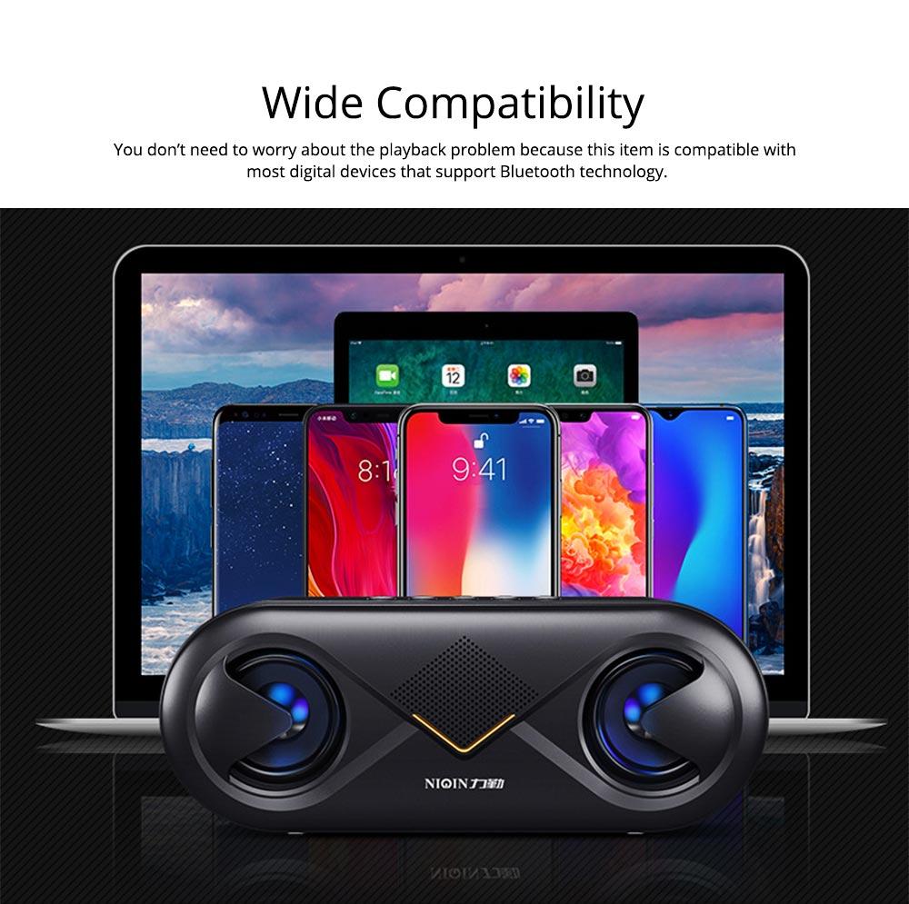 Household Two-eye Design Mini Portable Wireless Bluetooth Speaker, Outdoors Mobile Phone Mega Bass Loudspeaker Sound Box 3