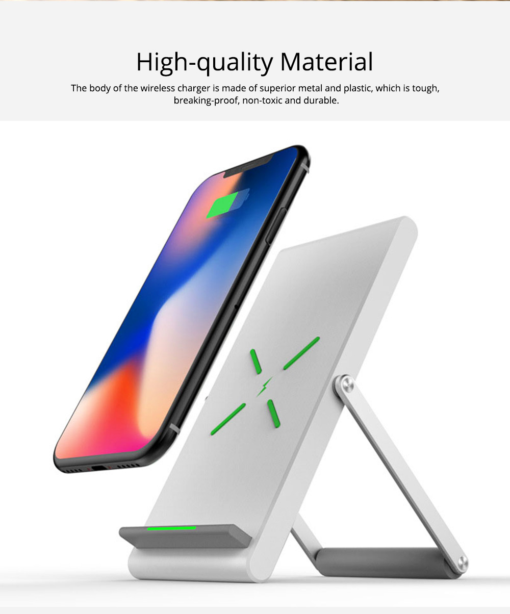Minimalist Functional iPhone Samsung Huawei Xiaomi Wireless Charger, 10W 1.2A Quick Charge Mobile Phone Charger Supporter 1