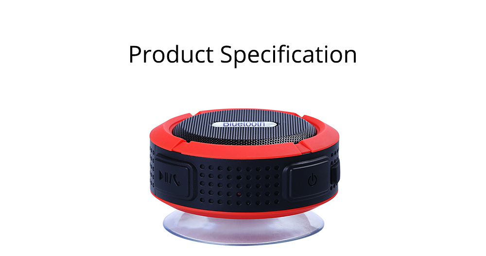 Outdoors Portable Mini Wireless Bluetooth4.0 Speaker, Functional Waterproof Small Sound Box with Sucker, Portable 3D Sound Quality Audio 11