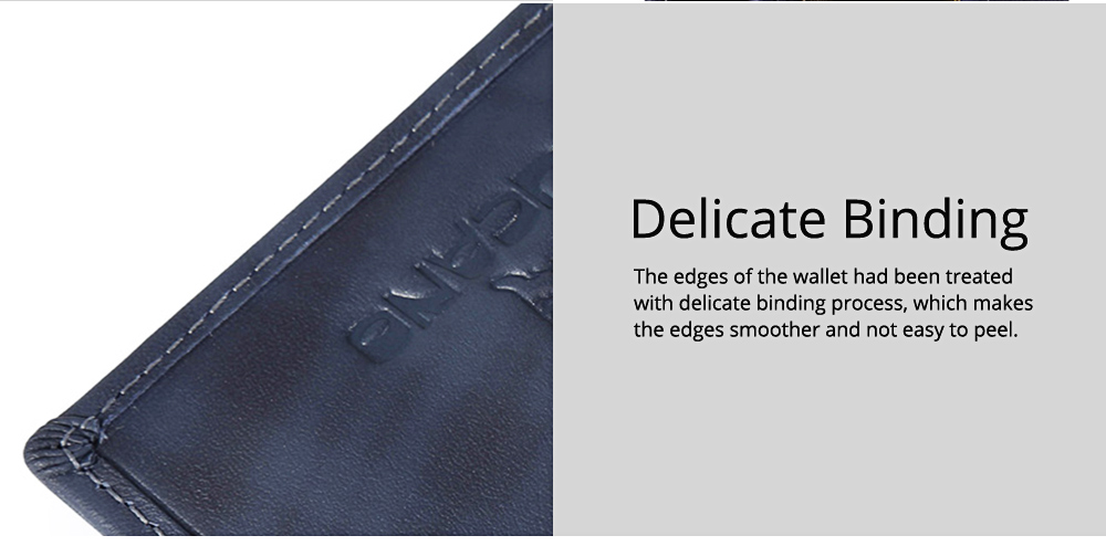 Minimalist Lines Pattern Thick Full Grain Leather Men Wallet, Fashion Business Quality First Layer Leather Credit Card Holder 3
