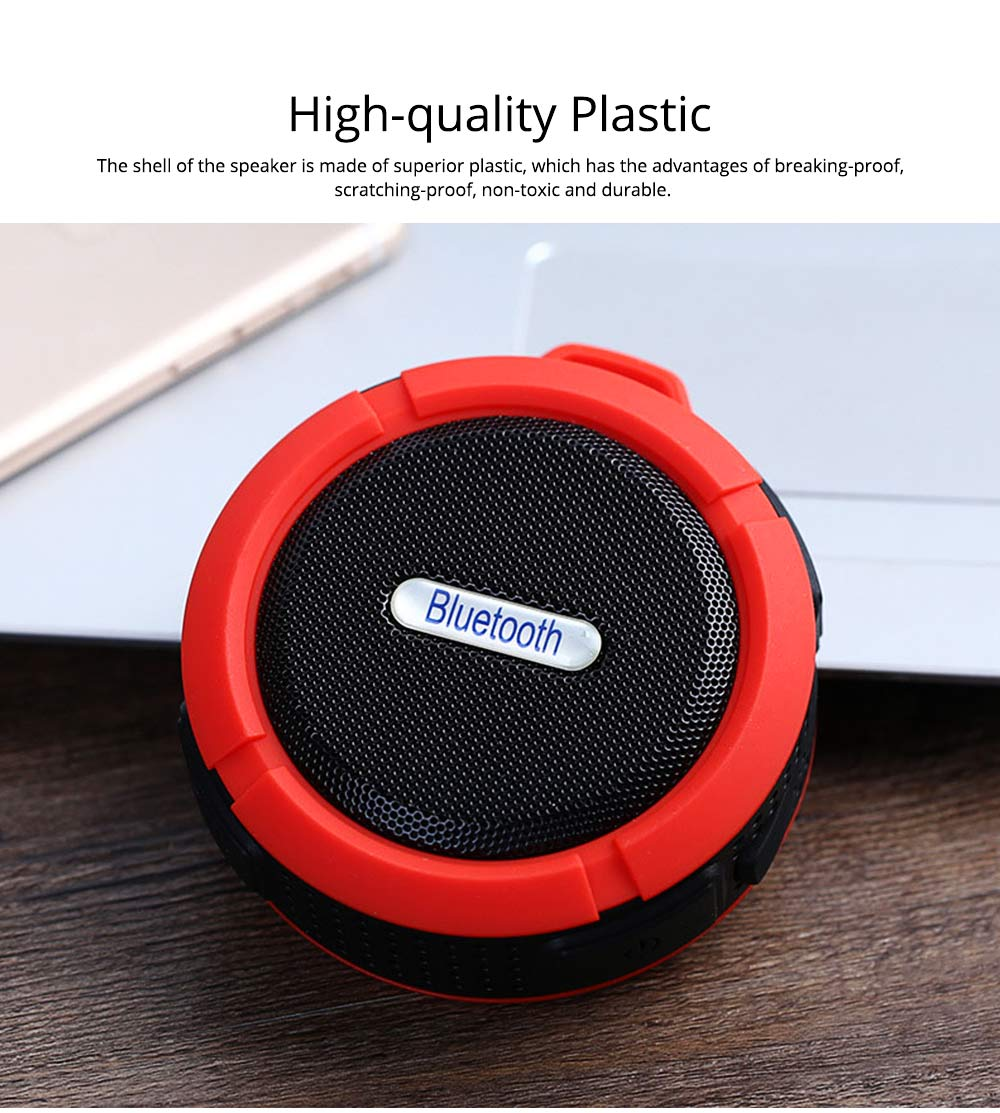 Outdoors Portable Mini Wireless Bluetooth4.0 Speaker, Functional Waterproof Small Sound Box with Sucker, Portable 3D Sound Quality Audio 1